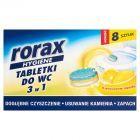 Rorax Hygiene Tabletki do WC 3w1 o cytrusowym zapachu 200 g (8 sztuk)
