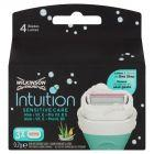 Wilkinson Sword Intuition Sensitive Care Wkłady z mydełkiem 3 sztuki