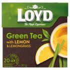 Loyd Aromatyzowana herbata zielona z cytryną i trawą cytrynową 30 g (20 torebek)