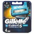 Gillette Fusion ProShield Chill Ostrza wymienne do maszynki dla mężczyzn 4 sztuki