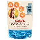 IAMS Naturally z dzikim tuńczykiem w sosie Karma dla dorosłych kotów 85 g