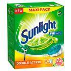 Sunlight All in 1 Citrus Fresh Tabletki do zmywarki 1260 g (72 sztuki)