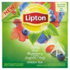 Lipton o smaku Jagoda i Goji Herbata zielona aromatyzowana 28 g (20 torebek)