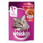 Whiskas 1+ lat Karma pełnoporcjowa potrawka w galaretce z wołowiną 85 g