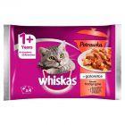 Whiskas Potrawka w galaretce smaki tradycyjne Karma pełnoporcjowa 1+ lat 340 g (4 saszetki)