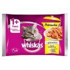 Whiskas Potrawka w galaretce smaki drobiowe Karma pełnoporcjowa 1+ lat 340 g (4 saszetki)
