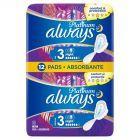 Always Platinum Night (rozmiar 3) Podpaski ze skrzydełkami, 12 sztuk