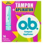 O.B. Compact Applicator Normal Tampony z aplikatorem 16 sztuk