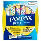 Tampax Compak Pearl Regular Tampony z aplikatorem, 8 sztuk