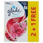 Glade by Brise One Touch Rozkoszna wiśnia z piwonią Zapas do odświeżacza powietrza 3 x 10 ml