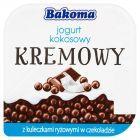 Bakoma Kremowy jogurt kokosowy z kuleczkami ryżowymi w czekoladzie 150 g