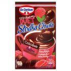 Dr. Oetker Słodka Chwila Czekoladowy Duet Czekolada & Malina Budyń z płatkami czekolady 45 g