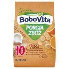 BoboVita Porcja Zbóż Kaszka mleczna 7 zbóż banan pomarańcza po 10 miesiącu 210 g