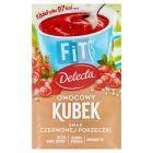 Delecta Owocowy kubek Fit Kisiel czerwona porzeczka 26 g