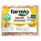Farmio Jaja ściółkowe od kur karmionych paszą bez GMO L 20 sztuk