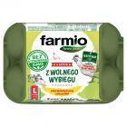 Farmio Jaja z wolnego wybiegu od kur karmionych paszą bez GMO L 6 sztuk