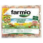 Farmio Jaja z wolnego wybiegu od kur karmionych paszą z soją bez GMO M 20 sztuk