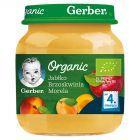 Gerber Organic Jabłko brzoskwinia morela po 4 miesiącu 125 g