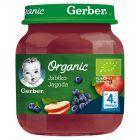 Gerber Organic Jabłko jagoda po 4 miesiącu 125 g