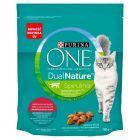 PURINA ONE Dual Nature Spirulina Pełnoporcjowa karma dla dorosłych kotów bogata w wołowinę 750 g