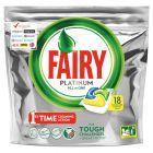 Fairy Platinum All in One Lemon Kapsułki do zmywarki 18 sztuk