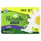 Naturella Ultra Night Podpaski zeskrzydełkami x14