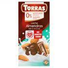 Torras Czekolada mleczna z migdałami bez dodatku cukru 75 g