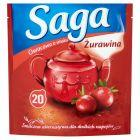 Saga Herbatka owocowa o smaku żurawina 34 g (20 torebek)