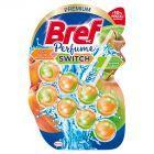Bref WC Perfume Switch Zawieszka myjąco-zapachowa do muszli WC brzoskwinia-czerwone jabłko 2 x 50 g