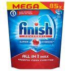 Finish All in 1 Max Tabletki do mycia naczyń w zmywarkach 1385,5 g (85 sztuki)