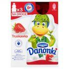 Danone Danonki Jogurt truskawka 210 g (3 x 70 g)