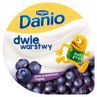Danone Danio Dwie warstwy Serek homogenizowany o smaku śmietankowym z jagodami 120 g