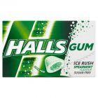 Halls Gum Ice Rush Bezcukrowa guma do żucia o smaku miętowym 18 g
