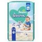 Pampers Splashers, R3-4, 12jednorazowych pieluch do pływania