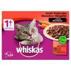 Whiskas 1+ lat Karma pełnoporcjowa smaki tradycyjne w sosie 2,4 kg (24 x 100 g)