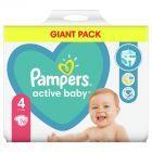 Pampers Active Baby Rozmiar 4, 76 pieluszek, 9-14 kg
