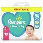 Pampers Active Baby Rozmiar 4+, 70 pieluszek, 10-15 kg