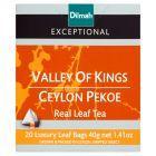 Dilmah Exceptional Czarna cejlońska herbata Pekoe 40 g (20 torebek)
