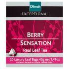 Dilmah Exceptional Czarna cejlońska herbata z dodatkiem jagód malin i aromatów 40 g (20 torebek)