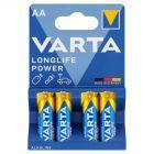 Varta Longlife Power AA LR6 1,5 V Bateria alkaliczna 4 sztuki