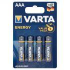 Varta Energy AAA LR03 1,5 V Bateria alkaliczna 4 sztuki