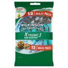 Wilkinson Sword Xtreme3 Pure Sensitive Jednorazowe maszynki do golenia 12 sztuk
