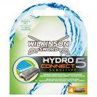 Wilkinson Sword Hydro Connect 5 Sensitive Wkłady do maszynki 4 sztuki