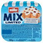 Müller Mix Jogurt słodzony z mieszanką kruszonych wafli i wafli w polewie kakaowej 130 g