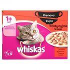 Whiskas 1+ lat Karma pełnoporcjowa zupa tradycyjne smaki 1020 g (12 x 85 g)