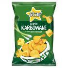 Star Chipsy karbowane o smaku ser i cebula 130 g