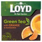 Loyd Aromatyzowana herbata zielona ze skórką pomarańczy i mandarynki 30 g (20 torebek)