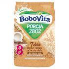 BoboVita Porcja Zbóż Kaszka mleczna 7 zbóż zbożowo-jaglana pełnoziarnista po 8 miesiącu 210 g