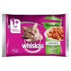 Whiskas 1+ lat Karma pełnoporcjowa potrawka w galaretce smaki rybne i tradycyjne 340 g (4 x 85 g)