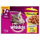 Whiskas 7+ lat Karma pełnoporcjowa potrawka w galaretce smaki drobiowe 1020 g (12 x 85 g)